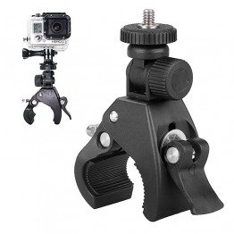 Bike Handlebar Mount Motorcycle clamp w Tripod Adapter Quick Release Holder Bracket with Tripod Adapter for GoPro