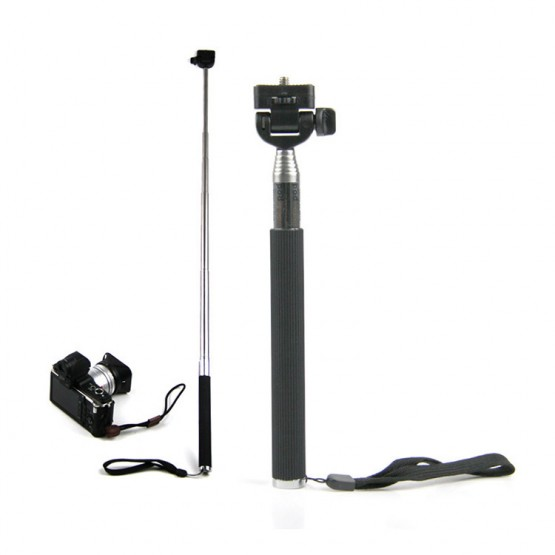 Self-Portrait Monopod Portable without the Bluetooth shutter button Remote iOS & Android Self stick