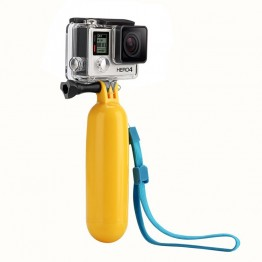 Waterproof Floating Hand Grip Floating Handle Tripod Floating Camera Pole Mount for Gopro Hero 1/2/3/3+ Hero 4, Includes Thumb Screw and Adjustable Wrist Strap(Yellow)