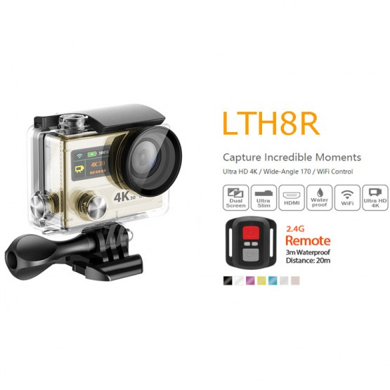 FACTORY OUTLETS Dual Screen LTH8R WIFI 4k wifi action camera high quality HOT SALE MODEL wifi action camera