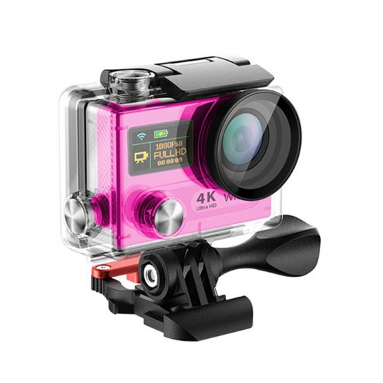 "Dual Screen 2"" LCD Waterproof Helmet  LTH8 Ultra HD 4K WIFI Sport Action Camera"