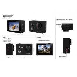 "New Style LTW9 WIFI Action Camera 2.0""LCD Full HD 1080P Camcorder CMOS Diving 30M Sports DV"